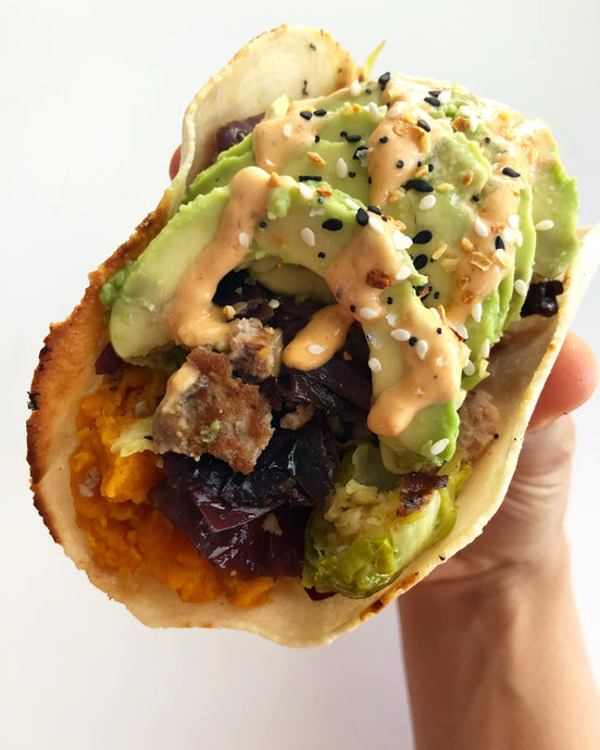 sweet and savory taco