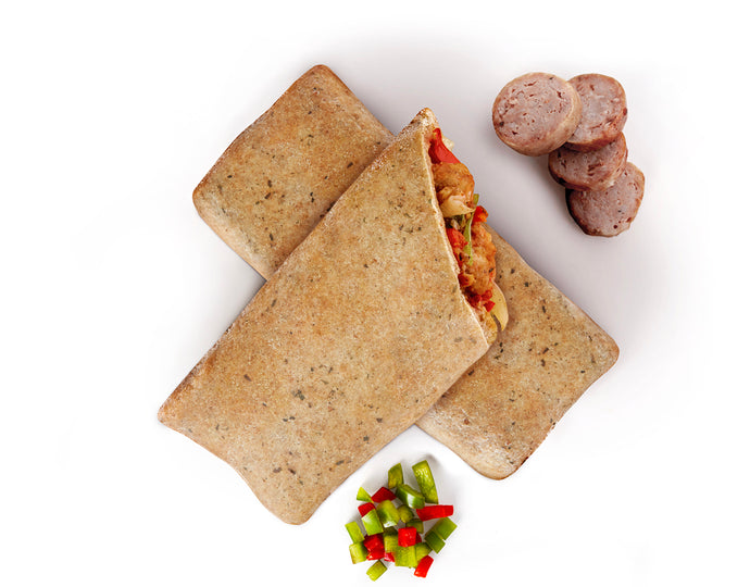 Sausage & peppers pockets