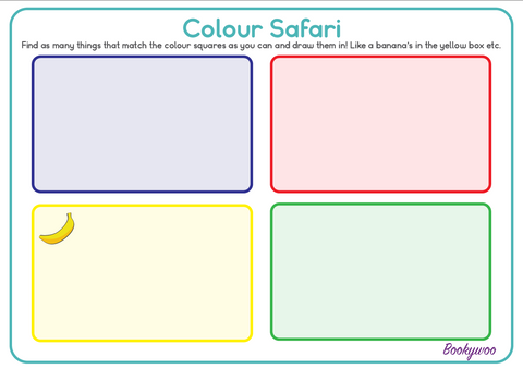Free Colour Safari worksheet kids kindergarten activity pre school worksheets writing sheets learn colours fun kids activity