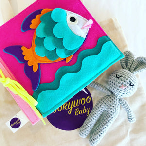 Bookywoo Bookywoo Baby and Bunny Bundle Busy Book Quiet Book Felt Book educational toys Occupational therapy products toddler fun activities