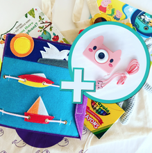 Bookywoo Bookywoo Pre-School Travel Bundle plus Piggy Wiggle Camera! Busy Book Quiet Book Felt Book educational toys Occupational therapy products toddler fun activities