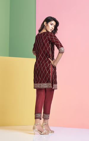 Designer Velvet shirt for women