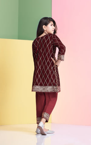 Velvet shirt for women