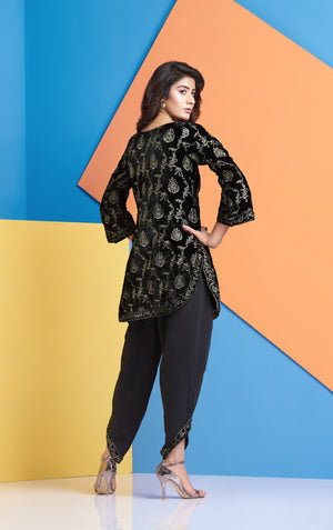 Pakistani Designer Velvet shirt for Women
