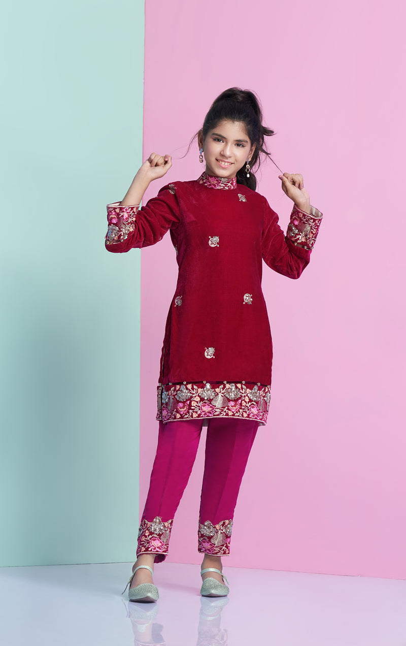 Velvet Shirt, Designer Velvet Shirt for children