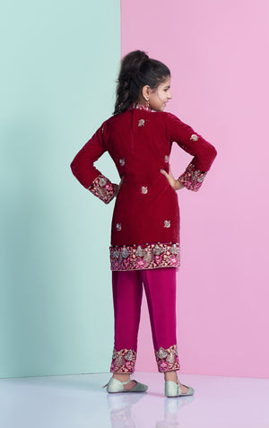 Designer Velvet shirt for children