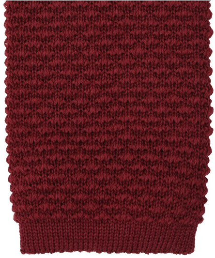Orange Label knit wool Krawatte - red