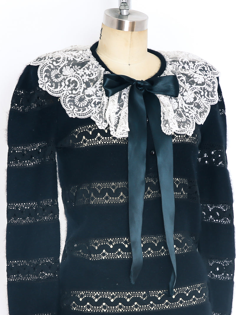 Valentino Cashmere and Lace Sweater