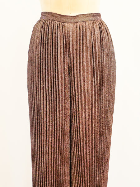 Krizia Copper Pleated Harem Pants