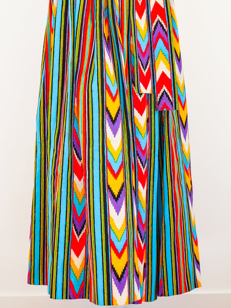Yves Saint Laurent Ikat Maxi Skirt