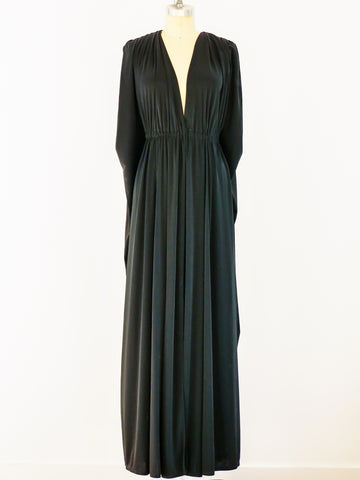 Bill Tice Sleeveless Jersey Gown