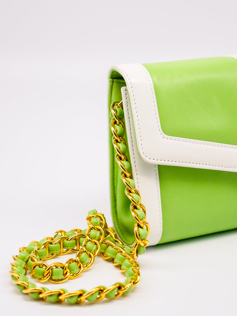 St John Lime Green Shoulder Bag