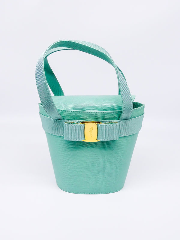 Ferragamo Seafoam Bucket Bag