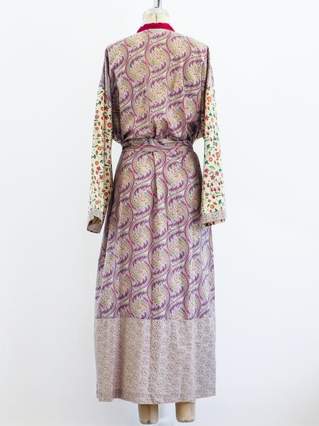 Liberty Mixed Print Belted Robe