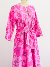 Thai Silk Printed Caftan