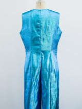 1960's Blue Lurex Jumpsuit