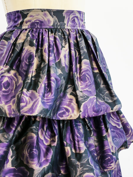 Ungaro Tiered Floral Skirt