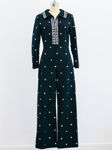 Donald Brooks Studded Knit Jumpsuit