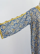 Blue Lurex Brocade Duster