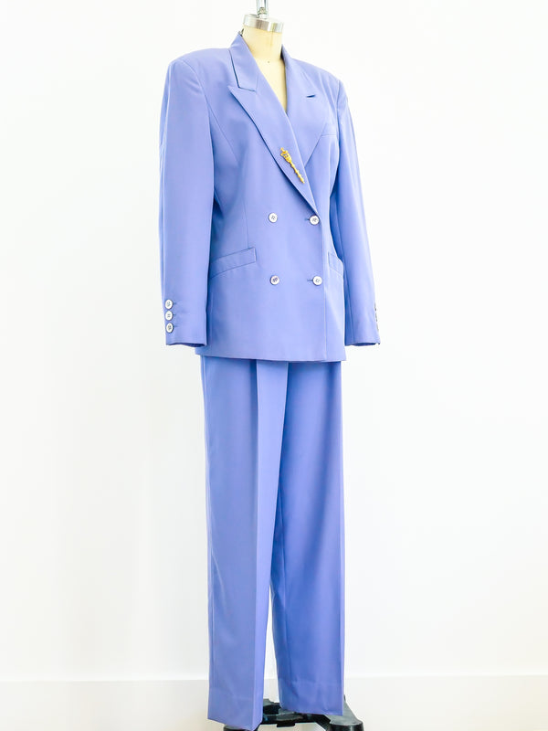 Periwinkle Double Breasted Pant Suit