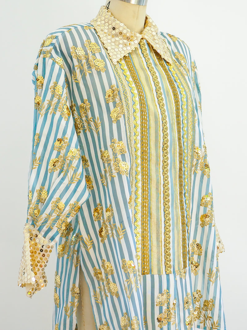 Christian Lacroix Embellished Striped Shirt