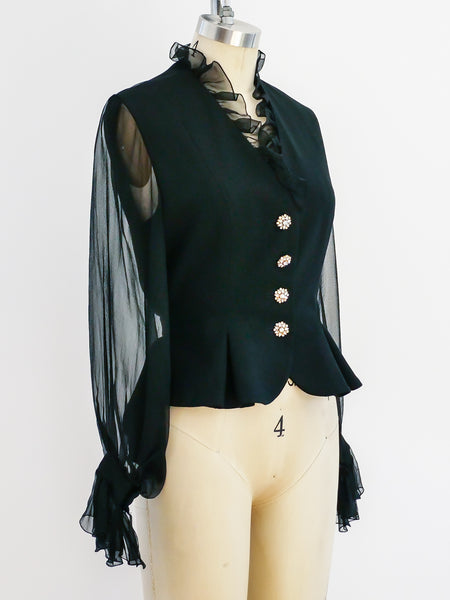Christian Dior Couture Chiffon Jacket