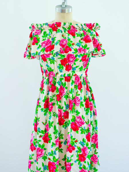 Spring 1977 YSL Rose Print Gown