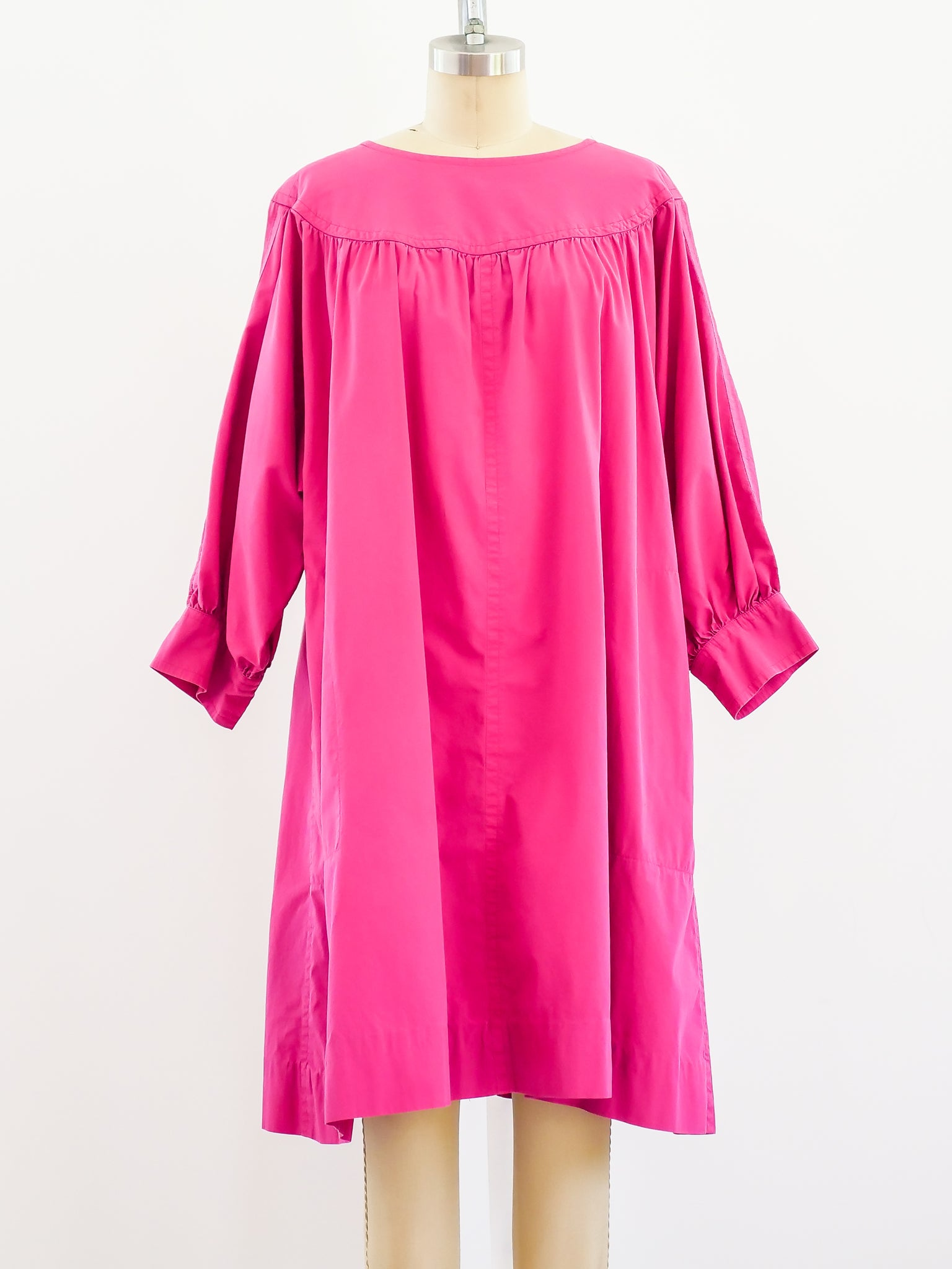 YSL Fushia Cotton Smock Dress