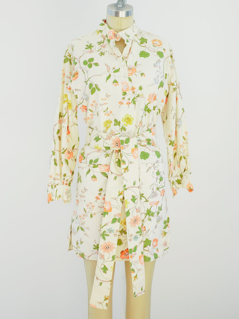 Anne Klein Floral Cotton Tunic Dress