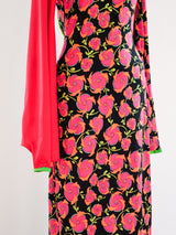 Giorgio di Sant'Angelo Neon Floral Jersey Gown