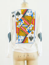Queen of Spades Long Sleeved Graphic Tee