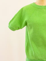 Kelly Green Short Sleeved Raglan Sweatshirt