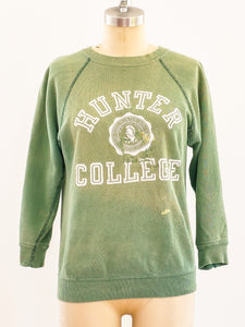 1960s Hunter College Patched Sweatshirt