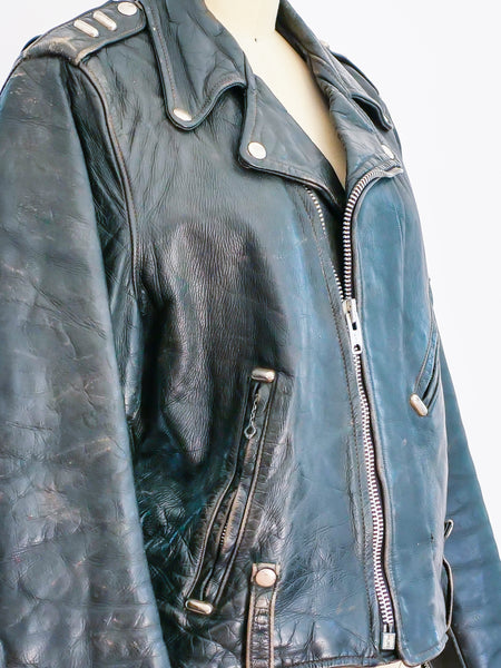 1960s Harley Davidson Leather Motorcycle Jacket