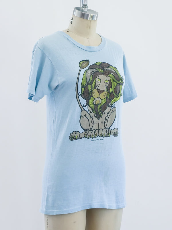 1970s Lion Graphic Tee