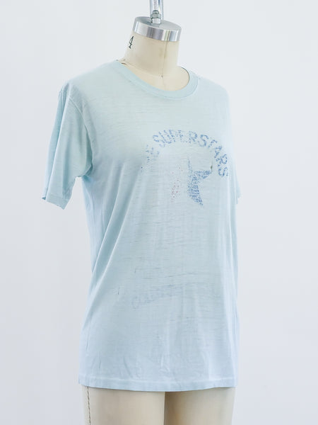 Light Blue Superstars Tee
