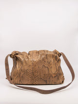 Carlos Falchi Snakeskin Buffalo Bag