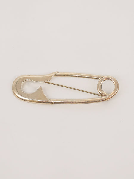 Sterling Safety Pin Brooch