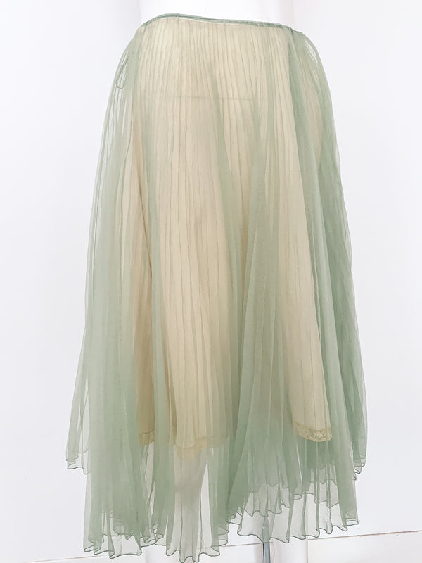 Prada Sheer Pleated Skirt