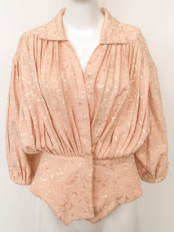 Norma Kamali Brocade Bed Jacket