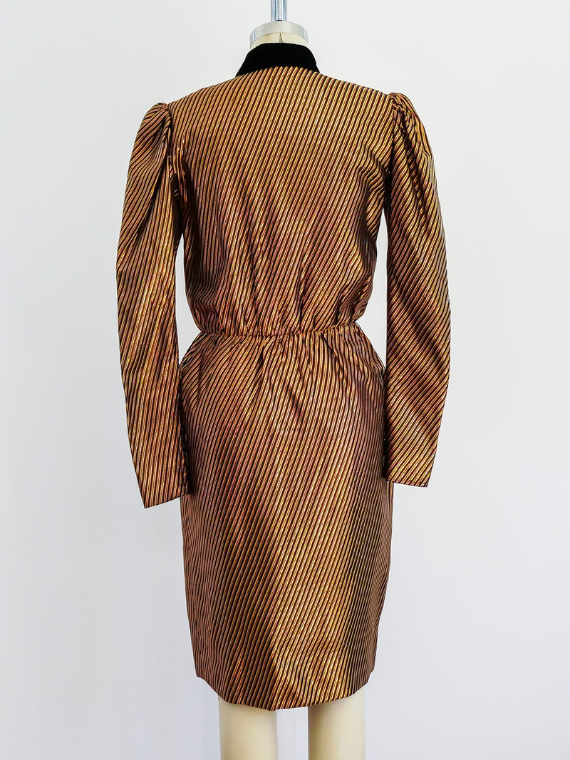 Givenchy Copper Lurex Dress