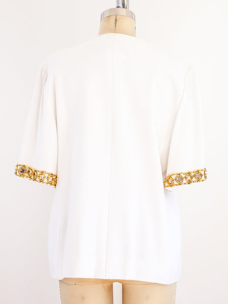 Givenchy Short Sleeved Jacket with Gold Rings