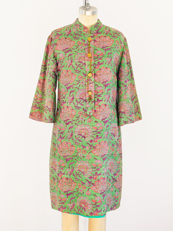 Floral Raw Silk Indian Tunic