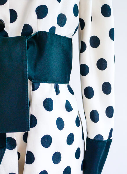 Valentino Polka Dot Coat Dress