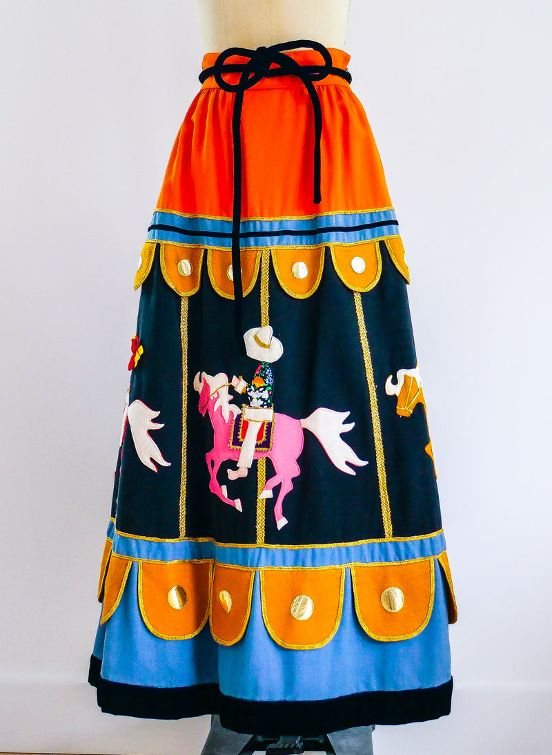 Malcolm Starr Carousel Applique Skirt