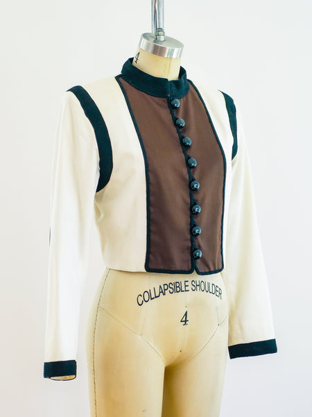Yves Saint Laurent Cropped Jacket
