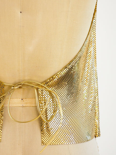 Whiting and Davis Chainmail Halter Top