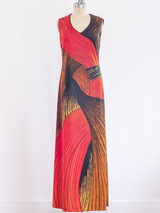Roberta di Camerino Braid Print Jersey Dress