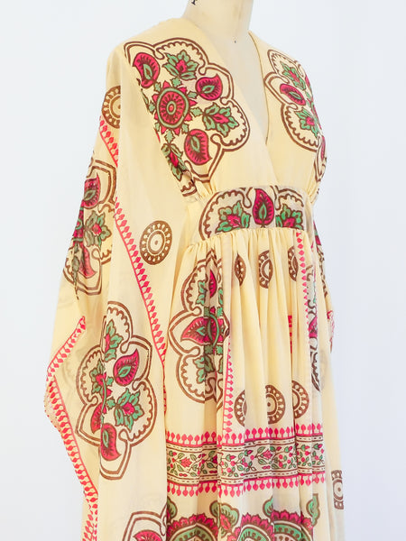 Printed Cotton Caftan