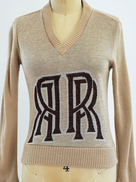Rolls Royce Logo V Neck Sweater